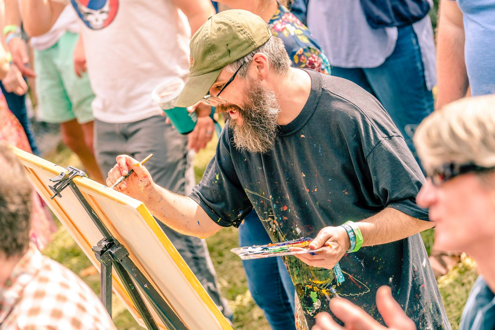 Sean painting at Charm City Bluegrass