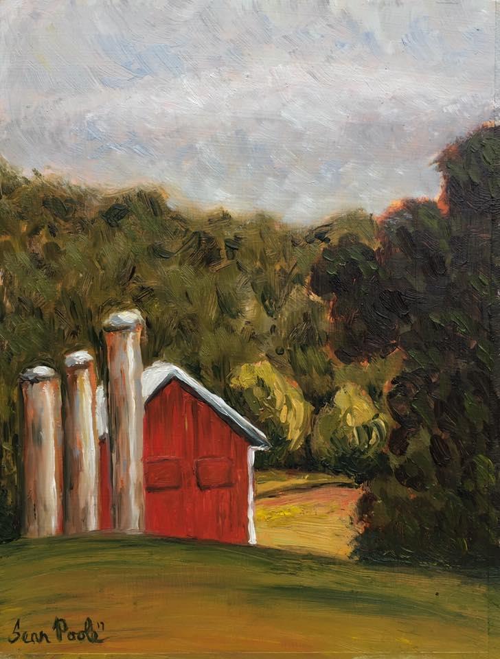 Three Silos and A Barn Walk Into A Field